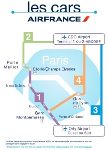 Mapa Les Cars Air France